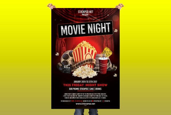 Movie Night Free PSD Flyer