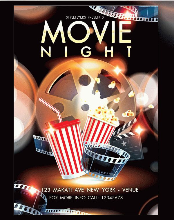 Movie Night PSD Flyer Free Download