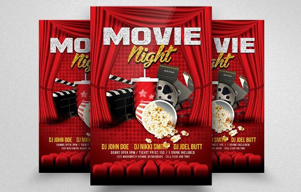 Movie Night Studio Flyer Template