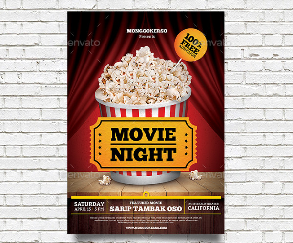 movie night flyer template free