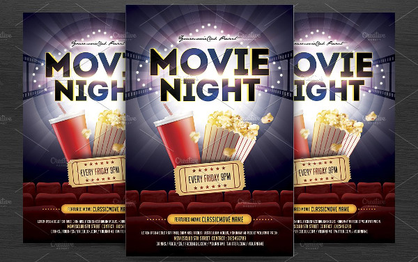 Famous Movie Party Night Flyer Template