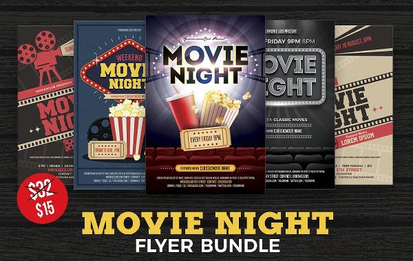 Popular Movie Night Flyer Bundle
