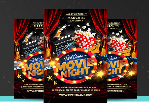 Movie Night Festival Flyer Template