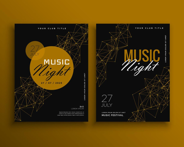 Music Night Party Flyer Template Free Download