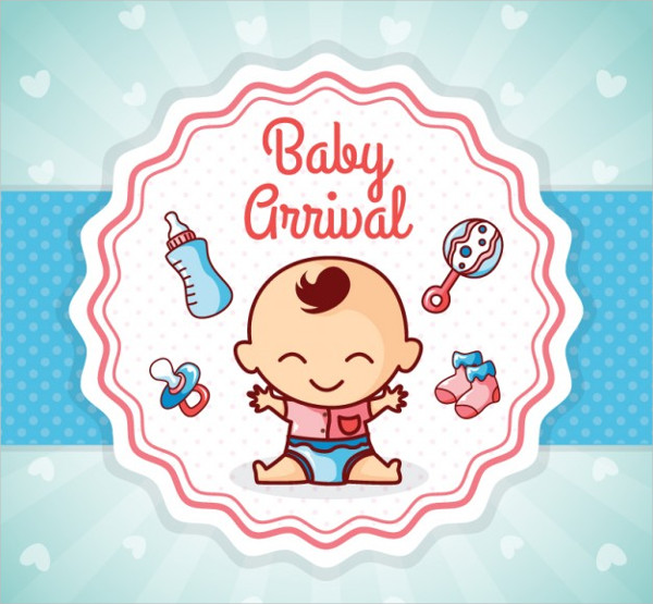 Nice Baby Arrival Card Free