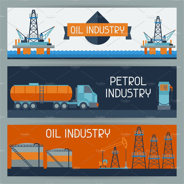 Oil Industrial Technology Banners Design