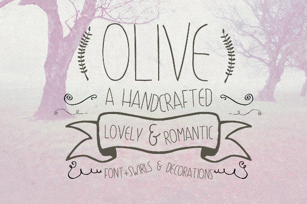 Olive Hand Drawn Font