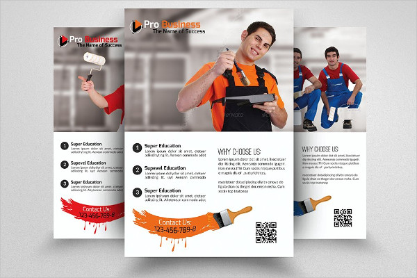 Professional House Paint Contractor Flyer