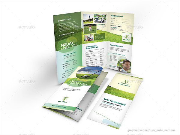 Professional Golf Brochure Template