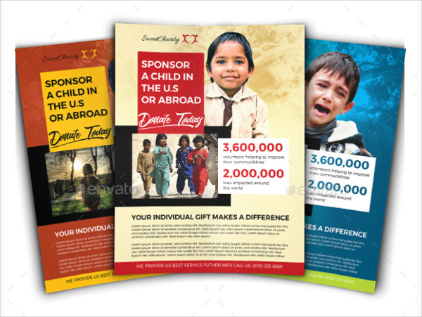 Promotional Charity Donation Flyer