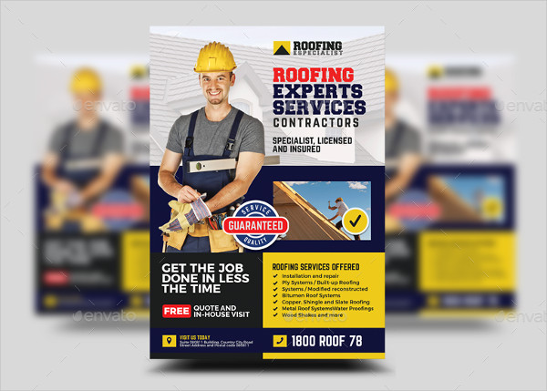 Roofing Installation and Repair Contractor Flyer