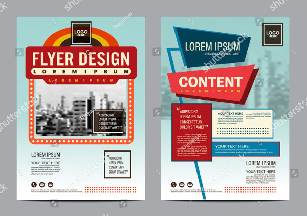 Retro Brochure Layout Design Template
