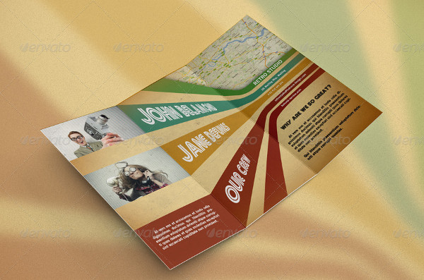 Retro Bi-Fold Brochure Template