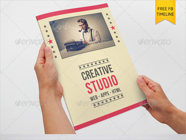 New Retro Style Brochure Template