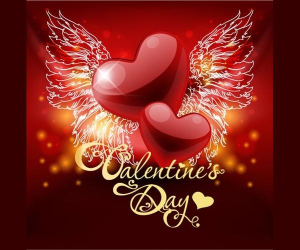 Retro Valentine Greeting Card Free Download