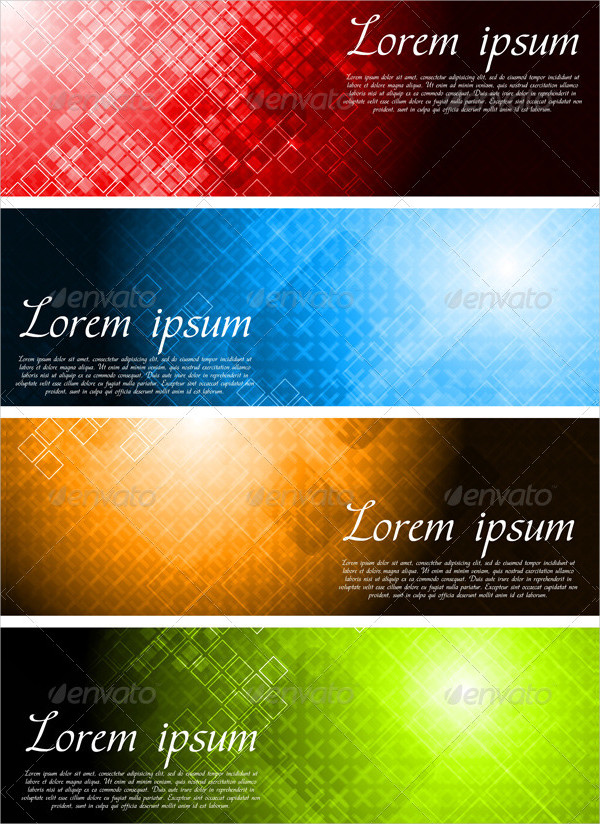 Set Of Bright Technology Banner Template