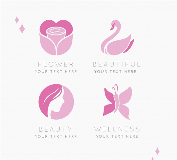Set of Four Logos Beauty Centers Free