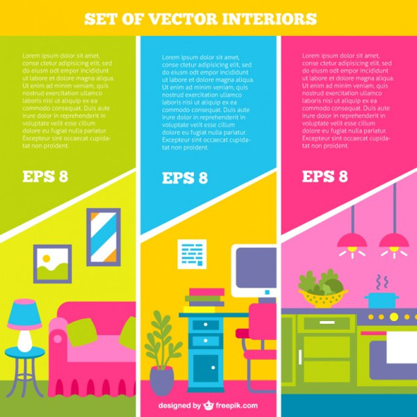 Set of Interior Brochures Free Download