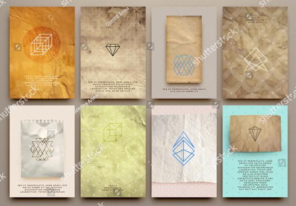 Set of Vintage Brochure Template