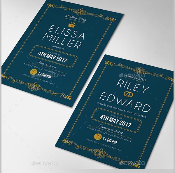 Simple Elegant Invitation Design