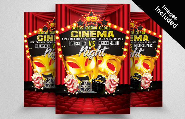 Simple Movie Night Flyer Template