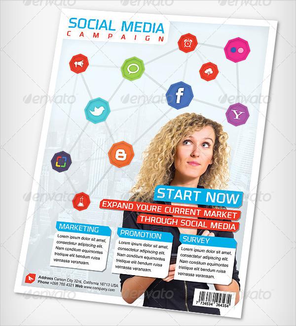 Social Media Campaign Advertising Flyer
