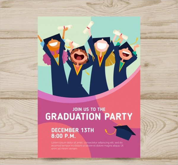 Free College Party Invitation Template