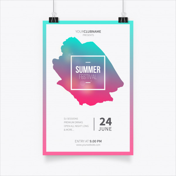 Summer Festival Poster Template Free
