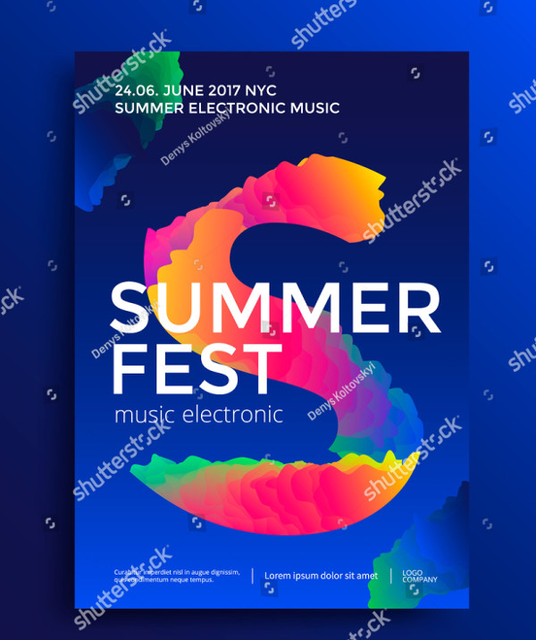 Summer Festival Electronic Music Poster