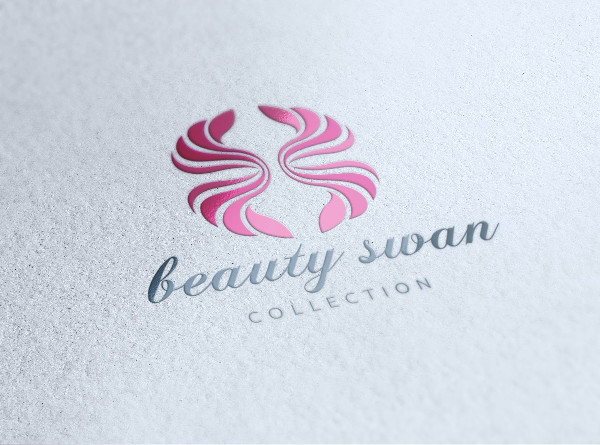 Swan Beauty Salon Logo Template