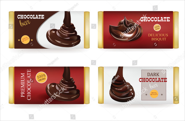 Chocolate Bar Design Templates Isolated On White Background