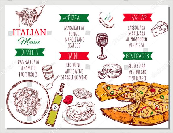 Traditional Italian Menu Template