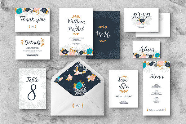 Traditional Wedding Invitations Samples
