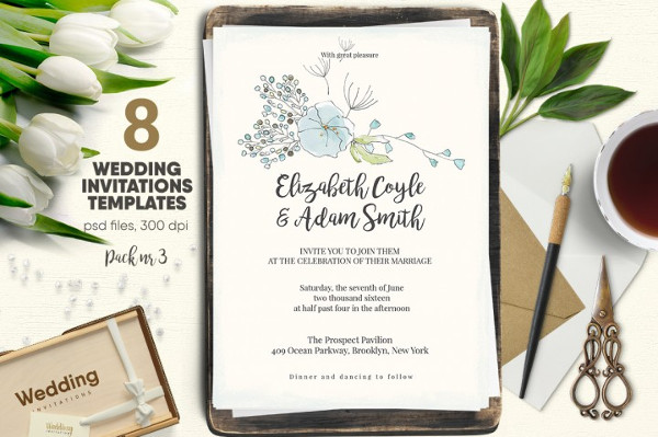 Unique Traditional Wedding Invitations