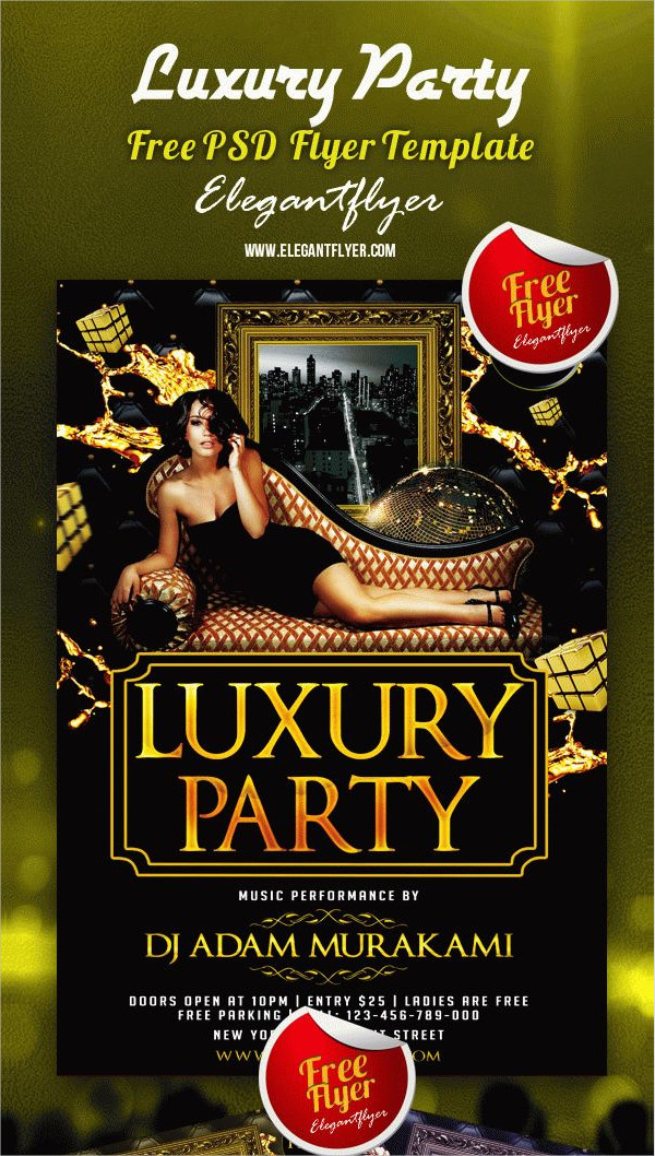 Luxury Party Club Free PSD Flyer Template