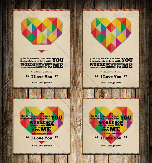 Valentine's Day Greeting Card I Love You