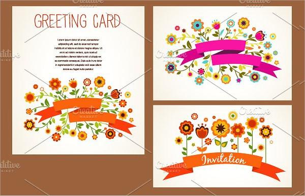 Vector Baby Greeting Card Templates Set