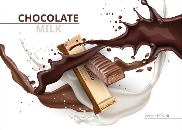 Vector Chocolate Caramel Mockup Template