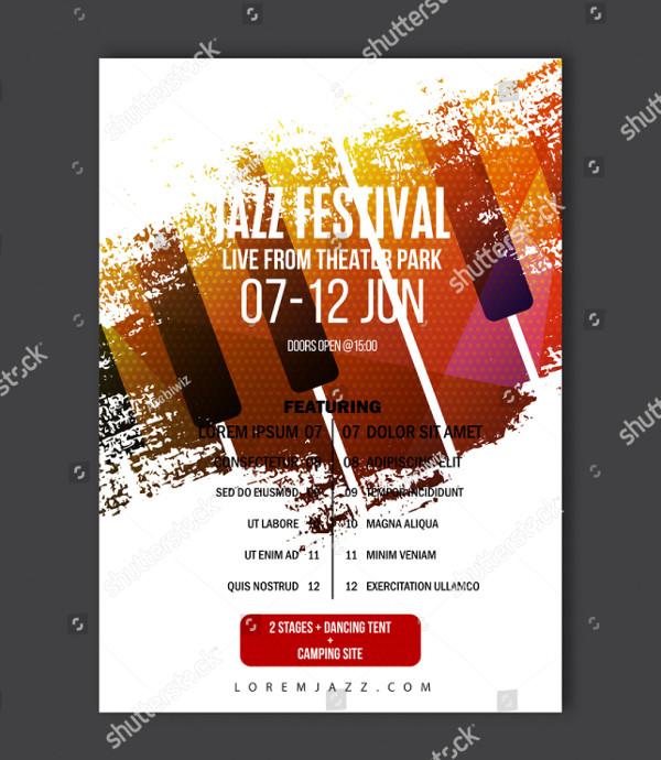 Vector Jazz Music Festival Template