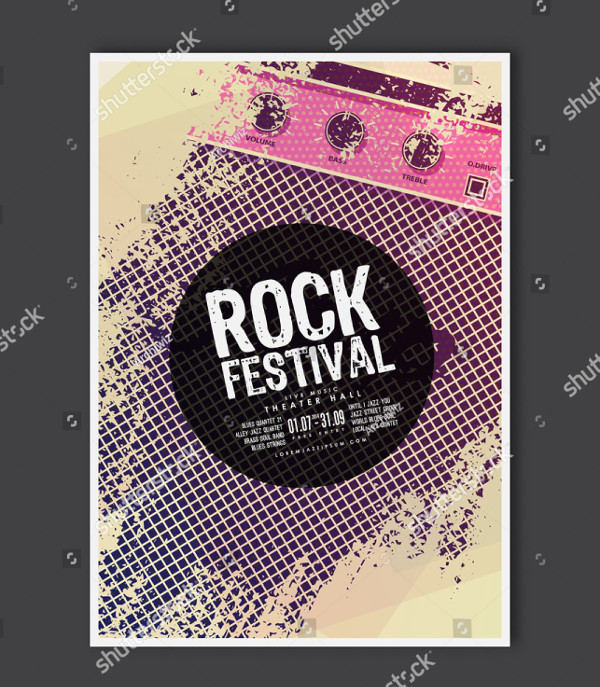 Vector Rock Music Poster Template