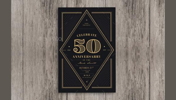 Vintage Anniversary Invitation