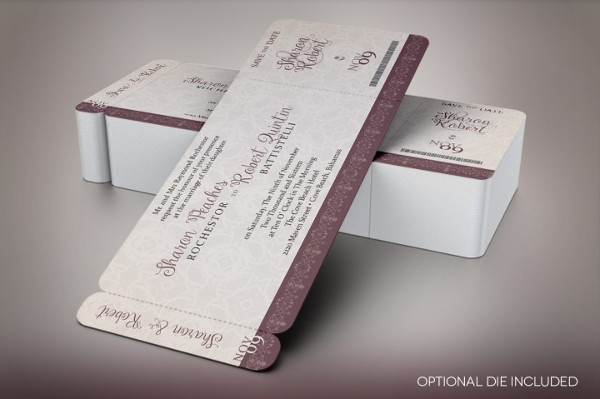 Vintage Boarding Pass Invitation Template