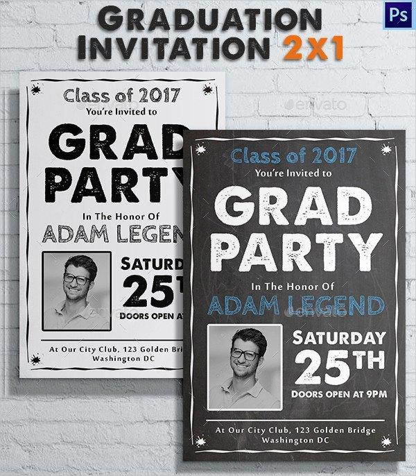Vintage College Invitation Template
