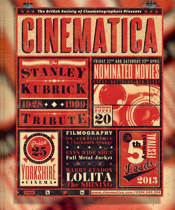 Vintage Film Festival Poster