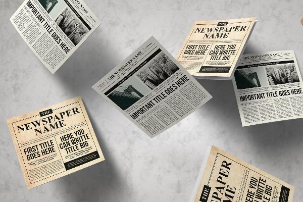 Vintage Newspaper Brochure Trifold