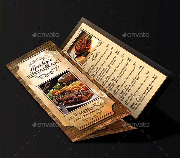 Vintage Restaurant Menu Trifold & Business Card