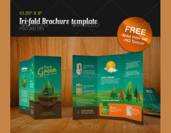 Vintage Style Ecology Brochure Template