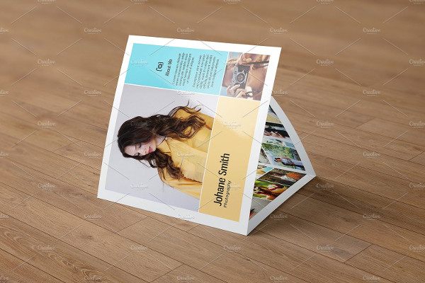 Vintage Trifold Photography Brochure
