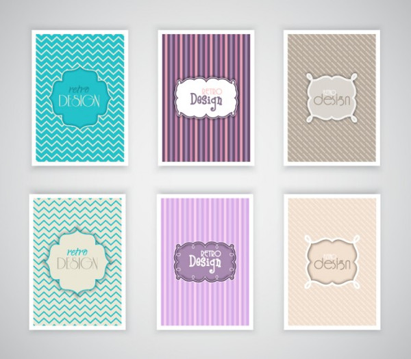 Vintage Brochure Template Collection Free Download