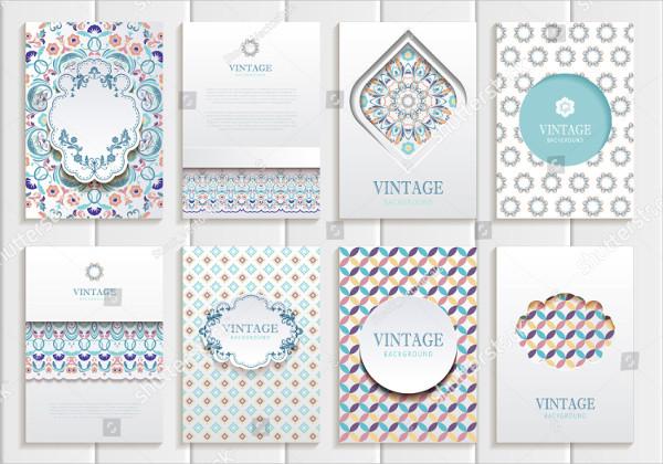 Vintage Style Design Brochure Templates